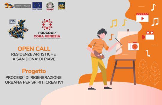 """Vincitori OPEN CALL """"RESIDENZE ARTISTICHE A SAN DONA' DI PIAVE"""" Progetto PROCESSI DI RIGENERAZIONE URBANA PER SPIRITI CREATIVI – INN Veneto"""