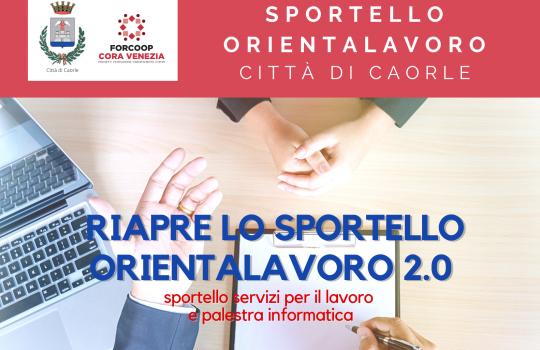 RIAPERTURA SPORTELLO ORIENTALAVORO DEL COMUNE DI CAORLE