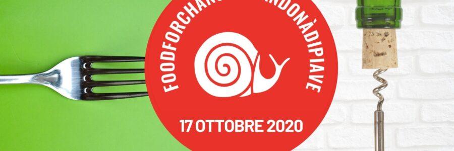 17 ottobre 2020, nuova data per Food for Change San Donà di Piave