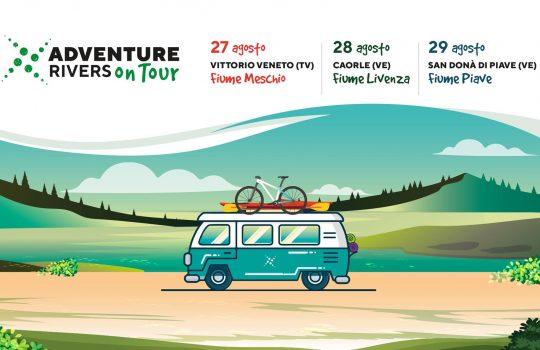 Adventure Rivers on Tour, 27-28-29 agosto sui fiumi Meschio, Livenza e Piave